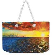 Painted Horizon Weekender Tote Bag