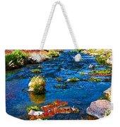 Painted Hot Creek Springs Weekender Tote Bag