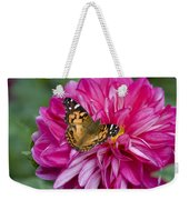 Painted Lady On Dahlia Weekender Tote Bag