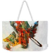 Painted Leaf Abstract 2 Weekender Tote Bag