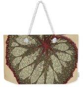 Painted Leaf Begonia Weekender Tote Bag