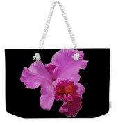 Painted Orchid Weekender Tote Bag