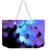 Painted Petals In Blue Purple Weekender Tote Bag