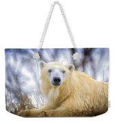 Painted Polar Bear  Weekender Tote Bag