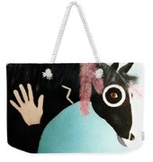 Painted Pony With Feather Weekender Tote Bag