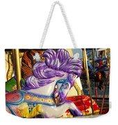 Painted Purple Pony Weekender Tote Bag