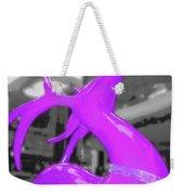 Painted Reindeer Purple Weekender Tote Bag