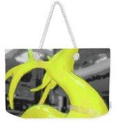 Painted Reindeer Yellow Weekender Tote Bag