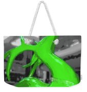 Painted Reindeer Green Weekender Tote Bag