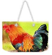 Painted Rooster Weekender Tote Bag