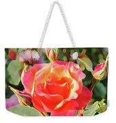 Painted Rose Weekender Tote Bag