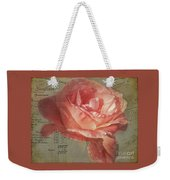 Painted Rose Weekender Tote Bag