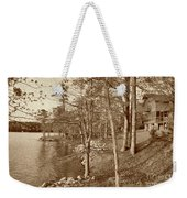 Painted Shore Camps In Sepia Weekender Tote Bag