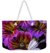 Painted Tongue With White Butterfly Weekender Tote Bag