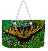 Painted Yellow Swallowtail Weekender Tote Bag