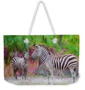 Painted Zebra Weekender Tote Bag