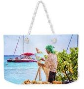 Painter At Work, Holetown Beach, Barbados Weekender Tote Bag
