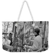 Painters In Montmartre, Paris, 1977 Weekender Tote Bag