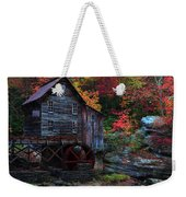 Painting Babcock State Park Glades Creek Grist Mill West Virginia Weekender Tote Bag