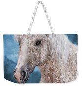 Painting Of A Brindle Horse With White Coat Weekender Tote Bag