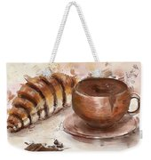 Painting Of Chocolate Delights, Pastry And Hot Cocoa Weekender Tote Bag