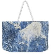 Painting Of Young Deer In Wild Landscape With High Grass. Graphic Effect. Weekender Tote Bag