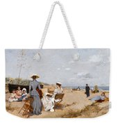 Painting On The Beach  Weekender Tote Bag