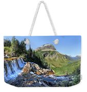 Paiota Falls - Glacier National Park Weekender Tote Bag