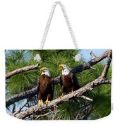 Pair Of American Bald Eagle Weekender Tote Bag