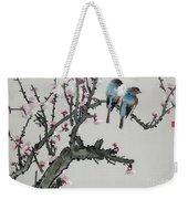 Pair Of Birds On A Cherry Branch Weekender Tote Bag