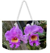 Pretty Purple Orchids Weekender Tote Bag