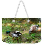 Pair Of Mallard Duck 6 Weekender Tote Bag