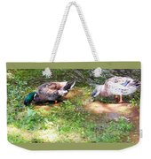 Pair Of Mallard Duck 8 Weekender Tote Bag