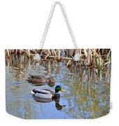 Pair Of Mallard Ducks Weekender Tote Bag