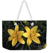 Pair Of Yellow Lilies Weekender Tote Bag