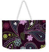 Paisley Abstract Design Weekender Tote Bag