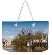 Palace In Royal Baths Park In Warsaw Weekender Tote Bag