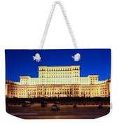 Palace Of Parliament At Night Weekender Tote Bag