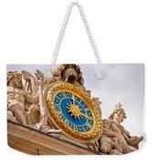 Palace Of Versaille Exterior Clock Weekender Tote Bag