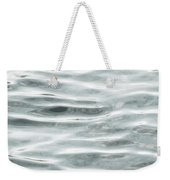 Pale Aqua Water Ripples Weekender Tote Bag