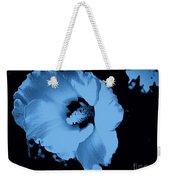 Pale Blue Tinge Hibiscus Flower Weekender Tote Bag