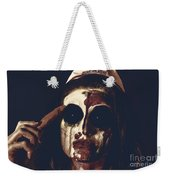 Pale Ghost With Black Eyes Thinking Up Bad Idea Weekender Tote Bag