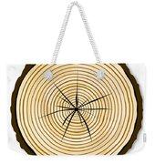 Pale Log End Weekender Tote Bag