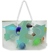 Pale Pastel Whites Gray Background Angles Rounds Blues Grays Yellow Orange Black Greens 2 9132017 Weekender Tote Bag