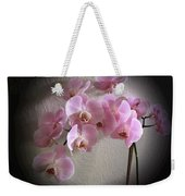 Pale Pink Orchids B W And Pink Weekender Tote Bag