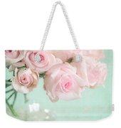 Pale Pink Roses Weekender Tote Bag