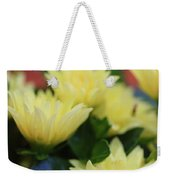 Pale Soft And Yellow Flower Abstract At Sunset Weekender Tote Bag