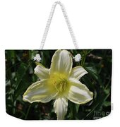Pale Yellow Flowering Lily Blossom In A Garden Weekender Tote Bag