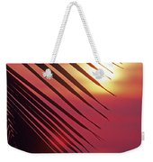 Palm At Sunset Weekender Tote Bag