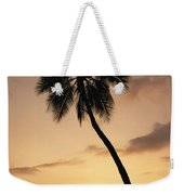 Palm At Sunset Weekender Tote Bag